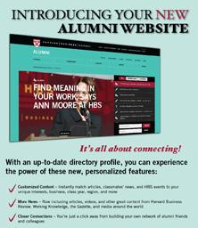 HBS Bulletin Alumni Website Ad